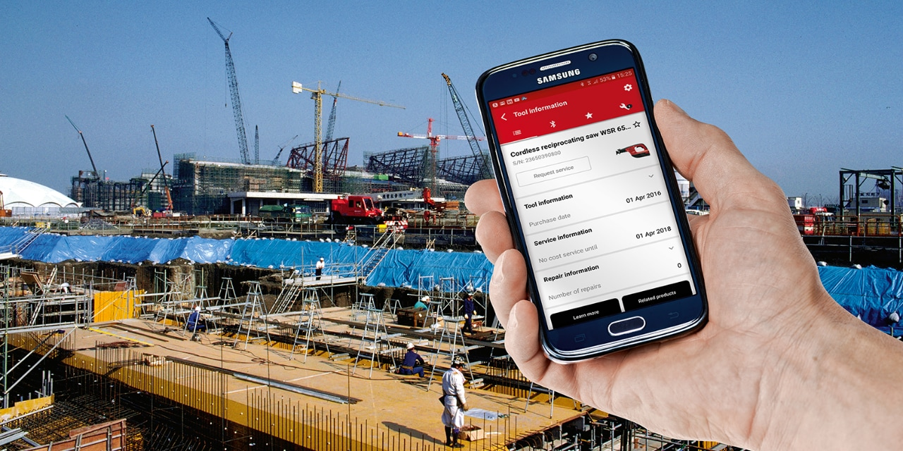 Hilti Connect app identifying your tool