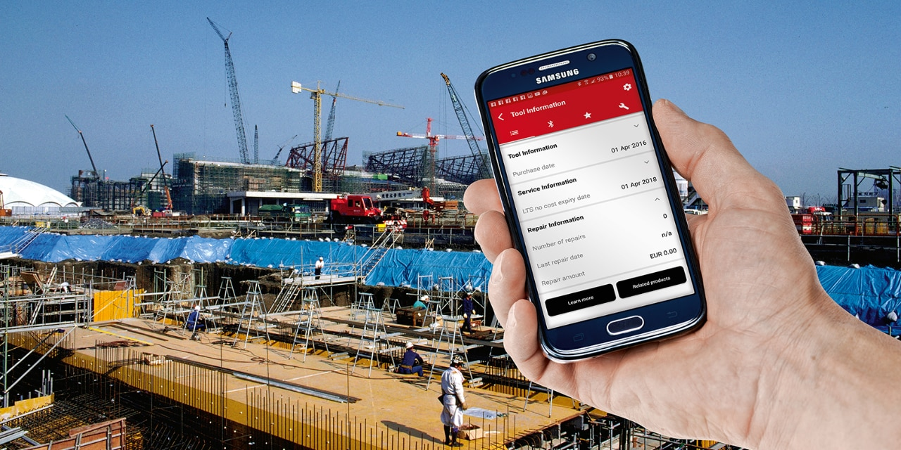 Hilti Connect app tool handling tips